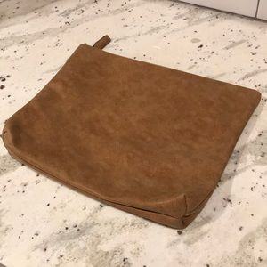 Free People Faux Leather Travel Clutch